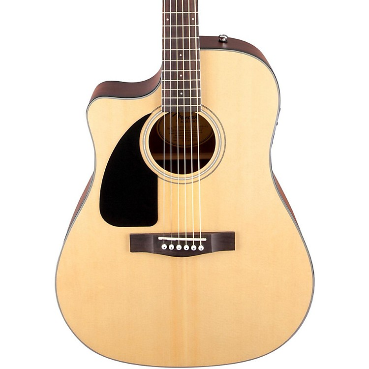 FenderCD100 CE Left-Handed Cutaway Acoustic-Electric GuitarNatural
