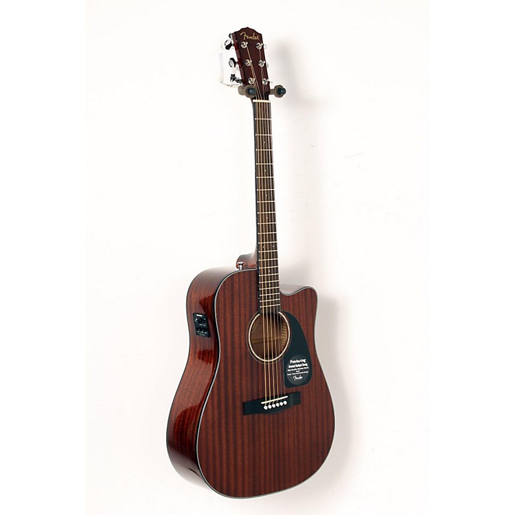 Fender CD60CE All-Mahogany Acoustic-Electric Guitar Natural 888365905174