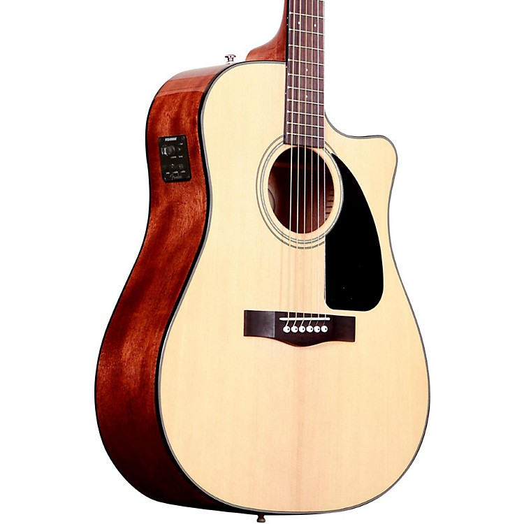 Fender CD60CE Cutaway Dreadnought Acoustic-Electric Guitar Natural