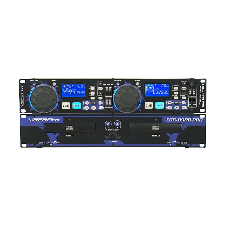 VocoPro CDG-8900 PRO Dual Tray CD/CD+G Player
