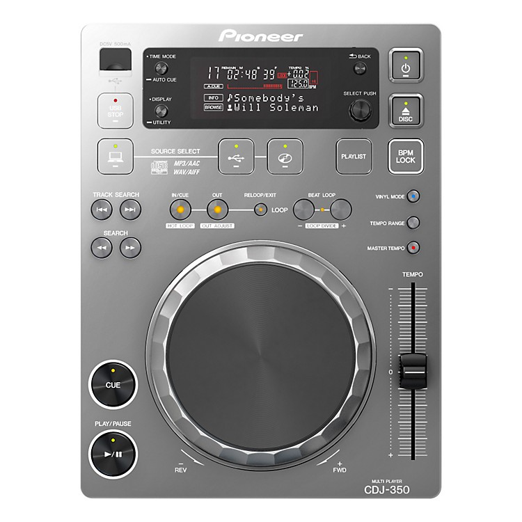 Pioneer CDJ-350 Digital Multi Player (Silver) Silver Multi format playback
