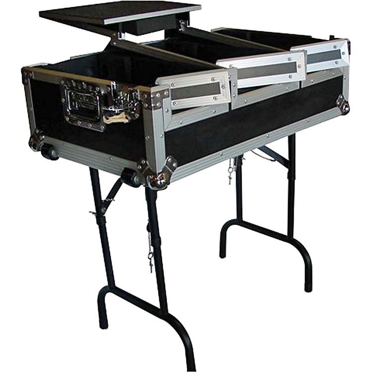 EuroliteCDJ400 Coffin Case with Laptop Shelf and Folding Table Legs