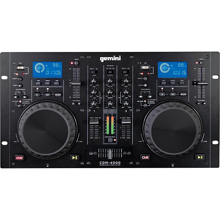 GeminiCDM-4000 Dual MP3/CD/USB Player and 2 Channel Mixer