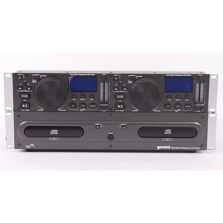 Gemini CDX-2200 2U Dual CD Player Regular 886830684845