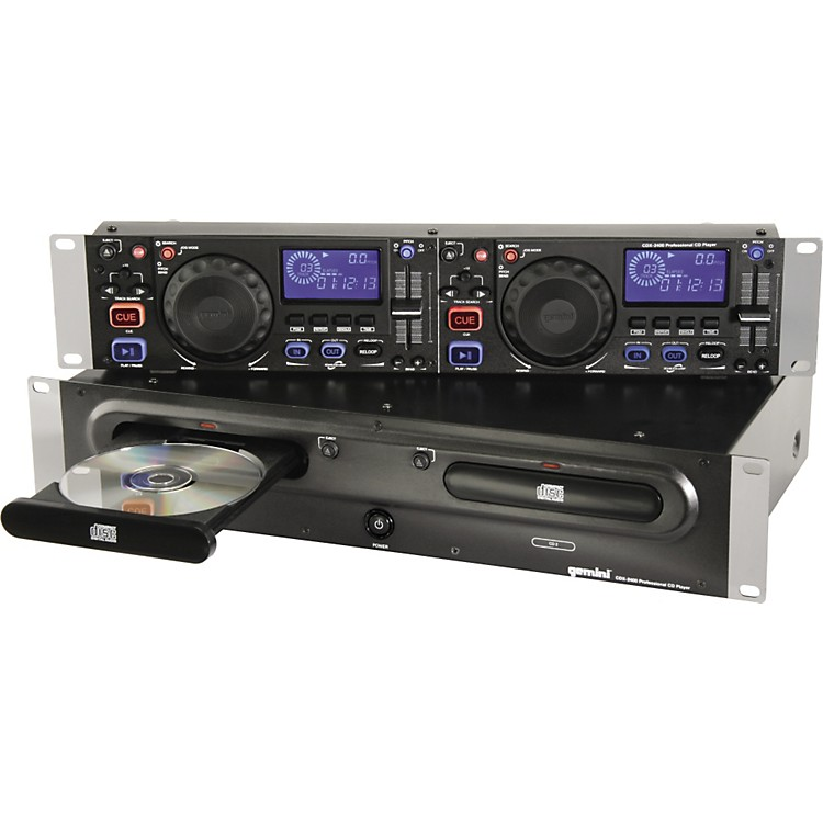 Gemini CDX-2400 Rackmount Dual CD Player