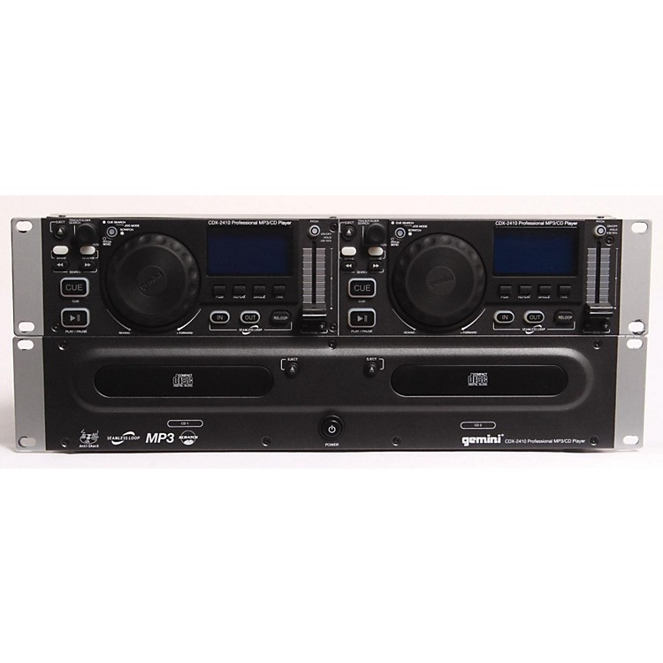 Gemini CDX-2410 2U Rackmount Dual MP3/CD Player  886830059926