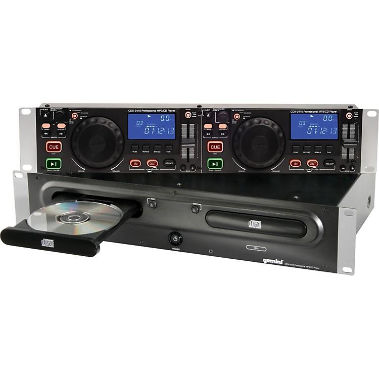 GeminiCDX-2410 2U Rackmount Dual MP3/CD Player