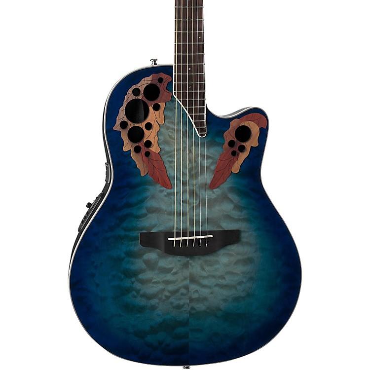 OvationCE48P Celebrity Elite Plus Acoustic-Electric GuitarTransparent Regal to Natural