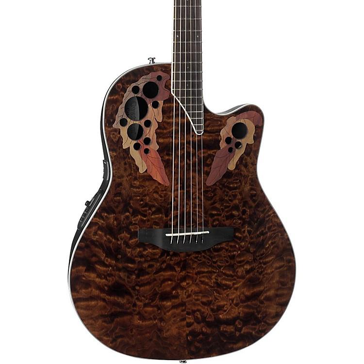 OvationCE48P Celebrity Elite Plus Acoustic-Electric GuitarTransparent Tiger Eye