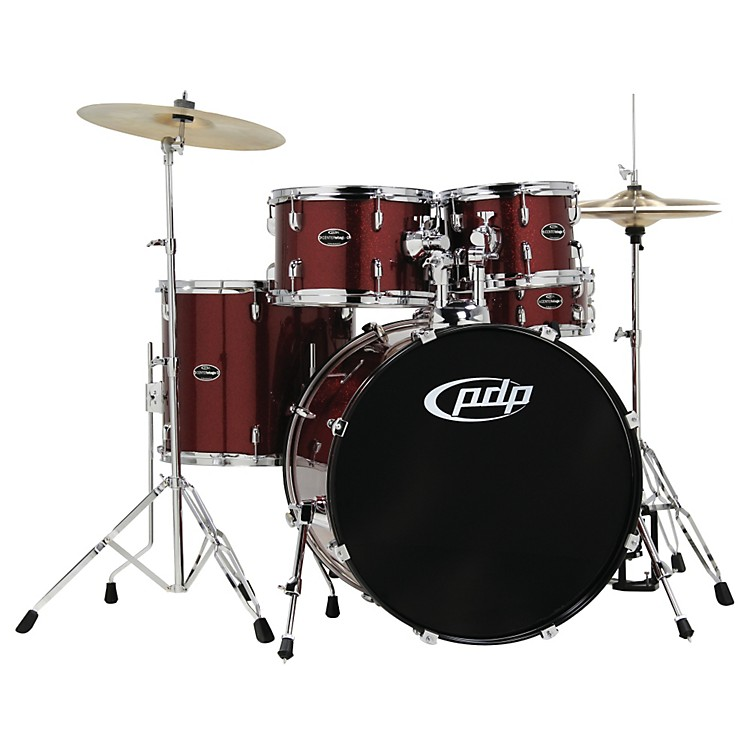 PDPCENTERstage 5-Piece Drum Set with Hardware and CymbalsRuby