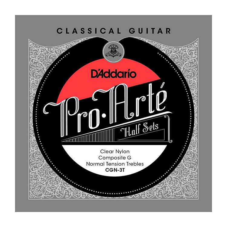 D'Addario CGN-3T Pro-Arte Normal Tension G Classical Guitar Strings Half Set