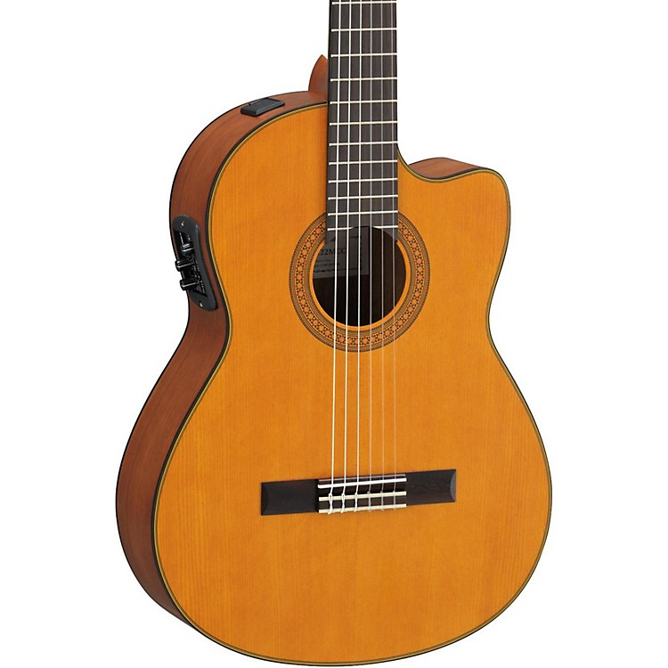 Yamaha CGX122MCC Solid Cedar Top Acoustic-Electric Classical Guitar Natural