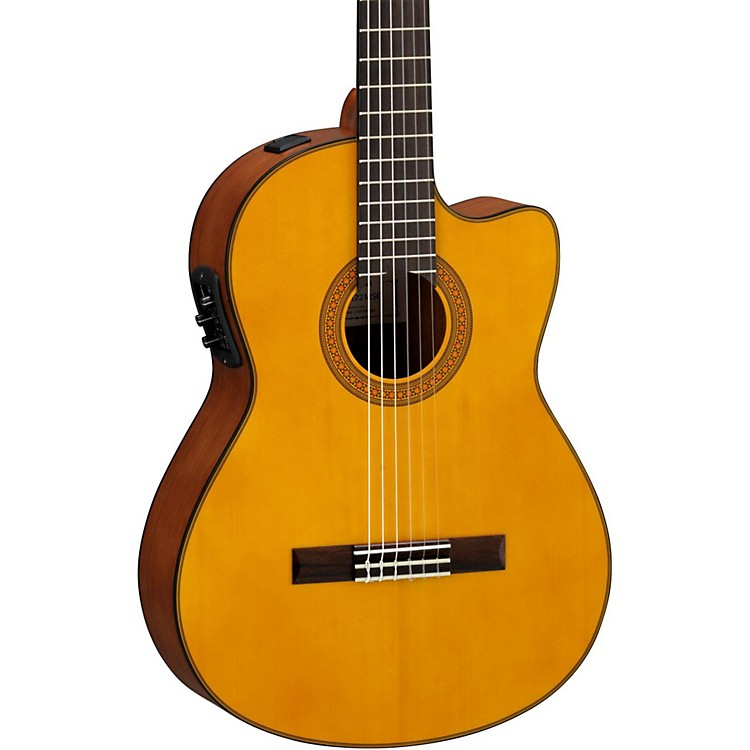 Yamaha CGX122MSC Solid Spruce Top Acoustic-Electric Classical Guitar Natural