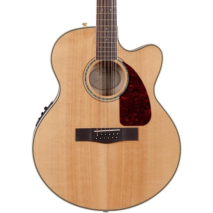 Fender CJ290SCE-12 Flame Maple Jumbo 12-String Acoustic-Electric Guitar Natural