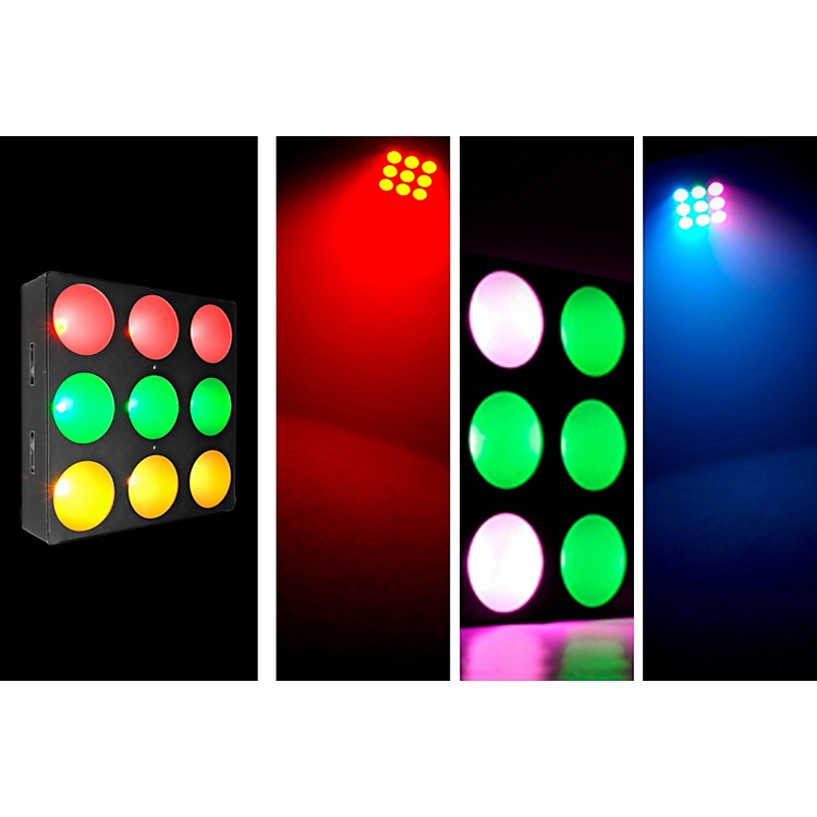 ChauvetCORE 3x3 COB LED Pixel Mapping and Wash Panel w/ interlocking feature