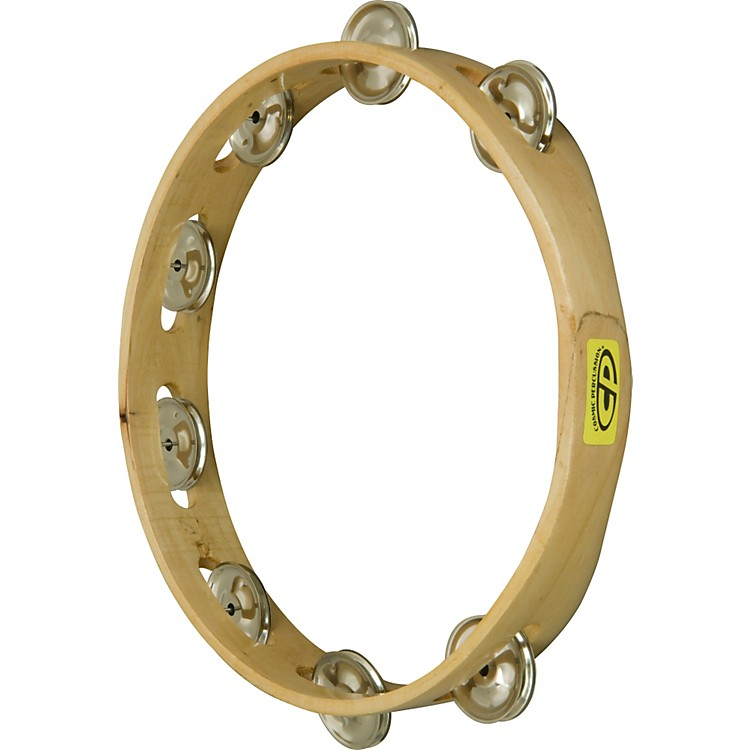 CP CP389 Tambourine HDLSS Single Row 10 Inches