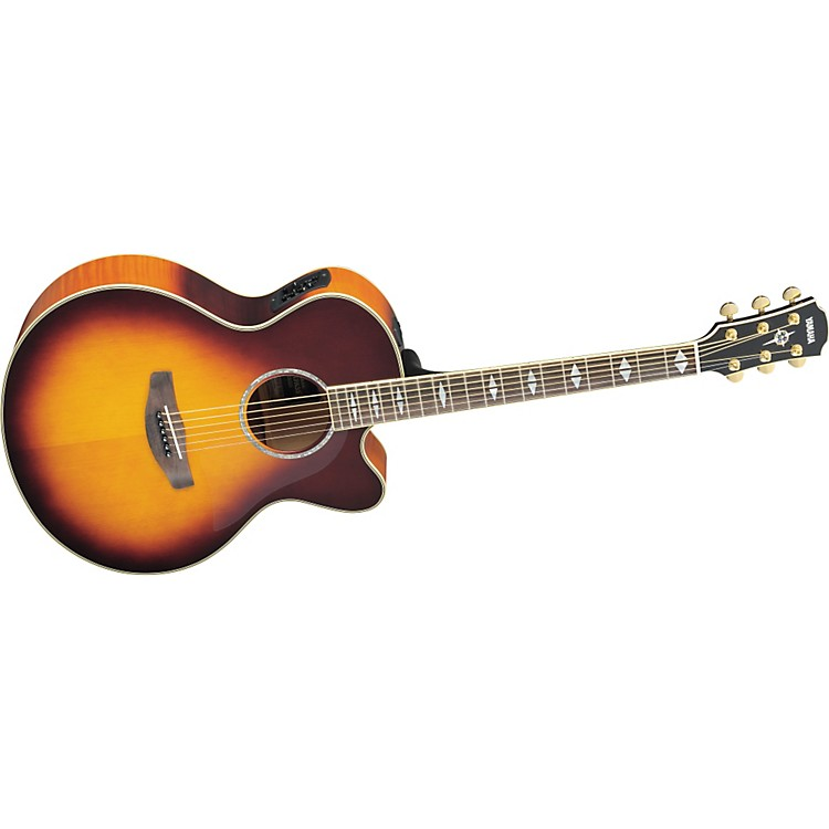 Yamaha CPX1000 Medium-Jumbo Cutaway Acoustic-Electric Guitar Brown Sunburst