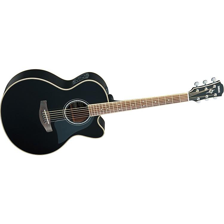 YamahaCPX700II Medium-Jumbo Cutaway Acoustic-Electric GuitarBlack