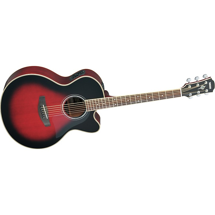 Yamaha CPX700II Medium-Jumbo Cutaway Acoustic-Electric Guitar Black