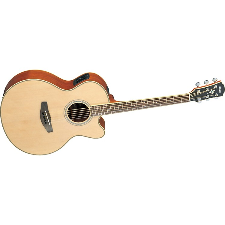 Yamaha CPX700II Medium-Jumbo Cutaway Acoustic-Electric Guitar Natural