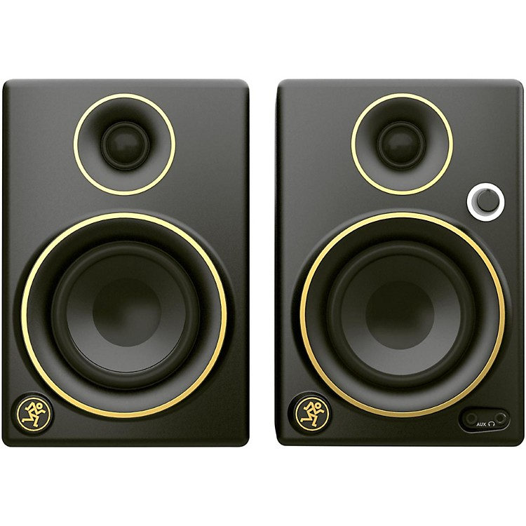 MackieCR5BT Limited Edition Gold Trim 5 in. Multimedia Monitors with Bluetooth (Pair)
