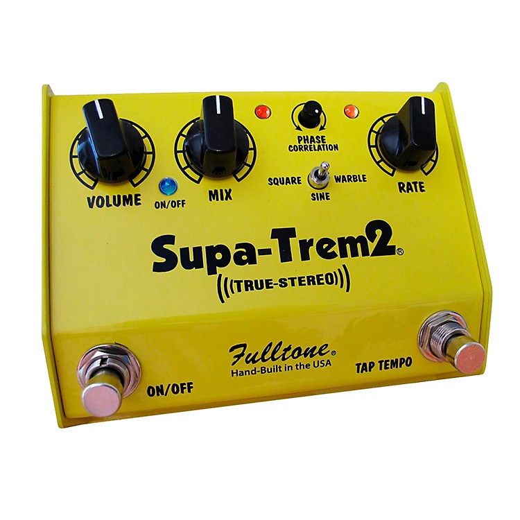 Fulltone Custom Shop CS Supa-Trem2 Stereo Tremolo w/ Tap Tempo Guitar Effects Pedal