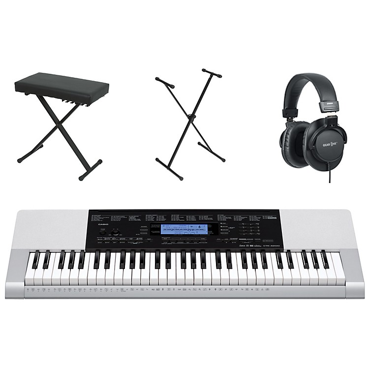 CasioCTK-4200 61-Key Portable Keyboard  with Bench, Stand, & Headphones
