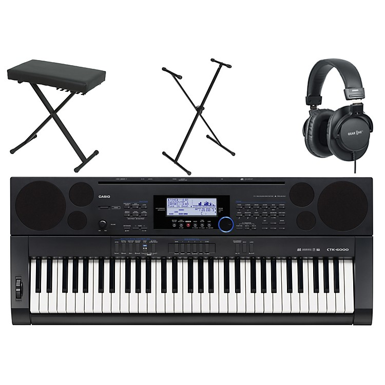 Casio CTK-6000 61-Key Portable Piano w/ Stand, Bench, & Headphones