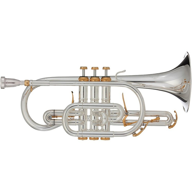 B&S CX X-Series Bb Cornet with Interchangeable Bells Silver