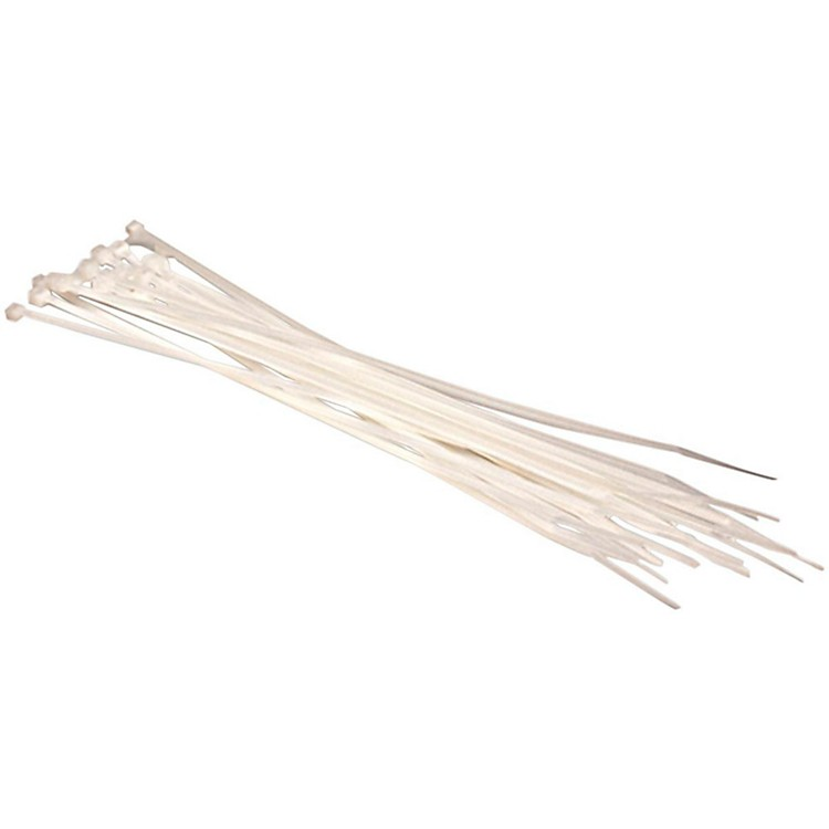 Hosa Cable Ties (20 Pack) White 8 in.