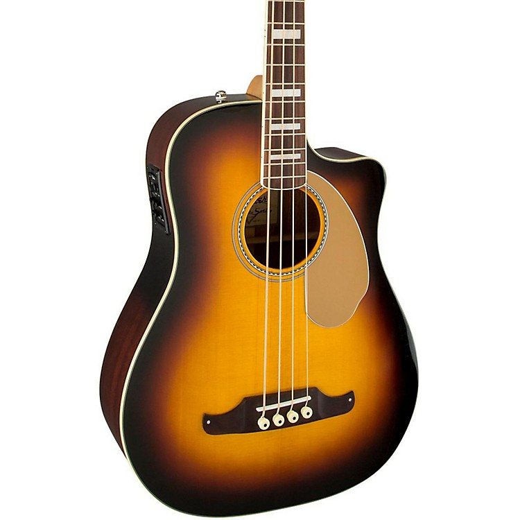 Fender California Series Kingman SCE Cutaway Dreadnought Acoustic-Electric Bass Guitar 3-Color Sunburst