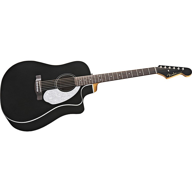Fender California Series Sonoran SCE California Custom Dreadnought Acoustic-Electric Guitar Black