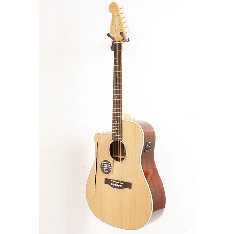Fender California Series Sonoran SCE Left-Handed Dreadnought Cutaway Acoustic-Electric Guitar Natural 886830351921