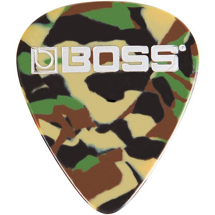 BossCamo Celluloid Guitar PickMedium12 Pack