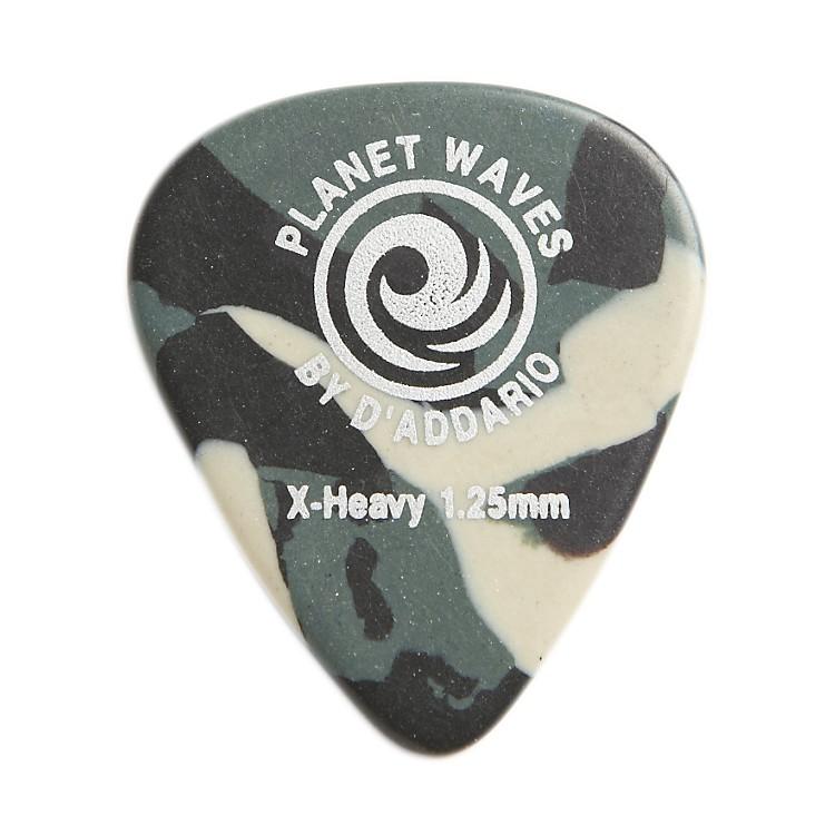 D'Addario Planet WavesCamouflage Celluloid Guitar PicksExtra Heavy25 Pack