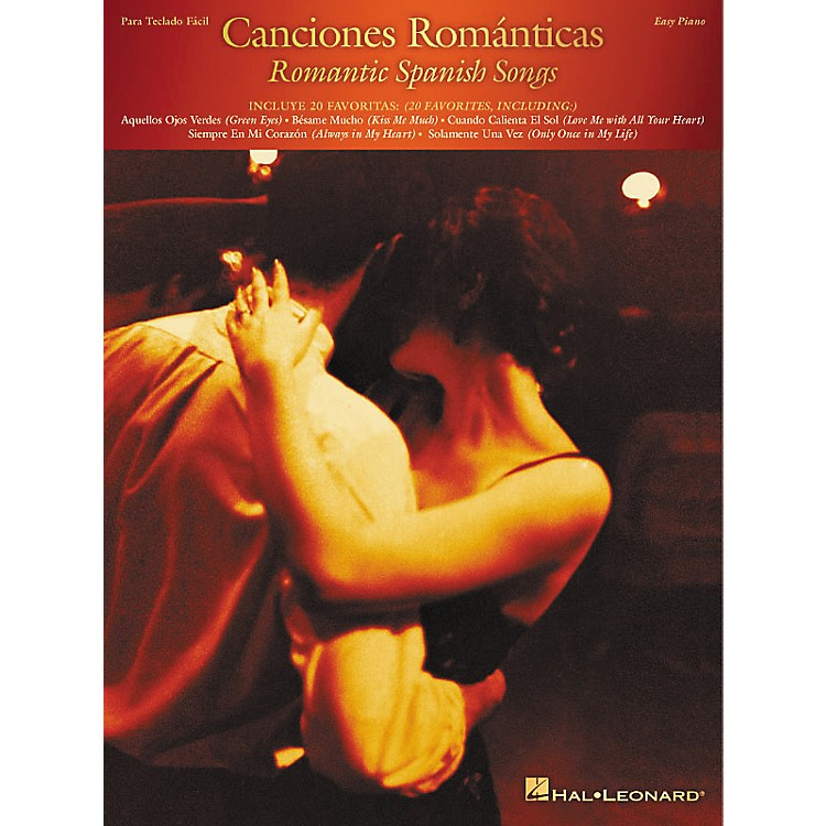 Hal Leonard Canciones Romanticas (Romantic Spanish Songs) For Easy Piano