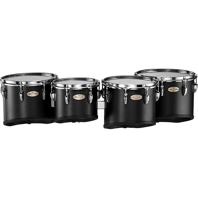 Pearl CarbonPly Mahogany Marching Tom Set #301  Carbon Fiber Matte 8, 10,12,13 set