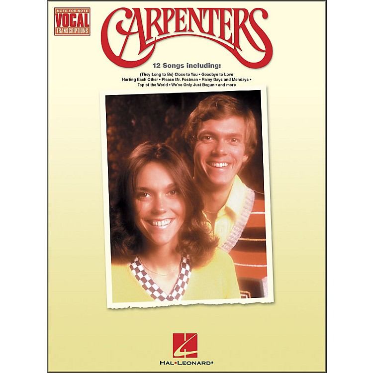 Hal Leonard Carpenters Note-for-Note Vocal Transcriptions