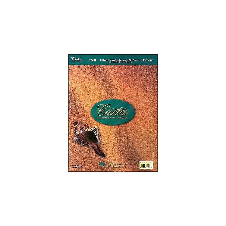 Hal Leonard Carta Manuscript 11 Writing Pad 8.5 X 11, 80 Pages, 6 Staves