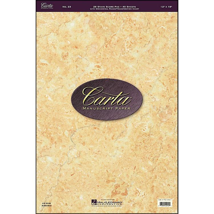 Hal LeonardCarta Manuscript 23 Scorepad 12 X 18, 40 Sheets, 26 Staves