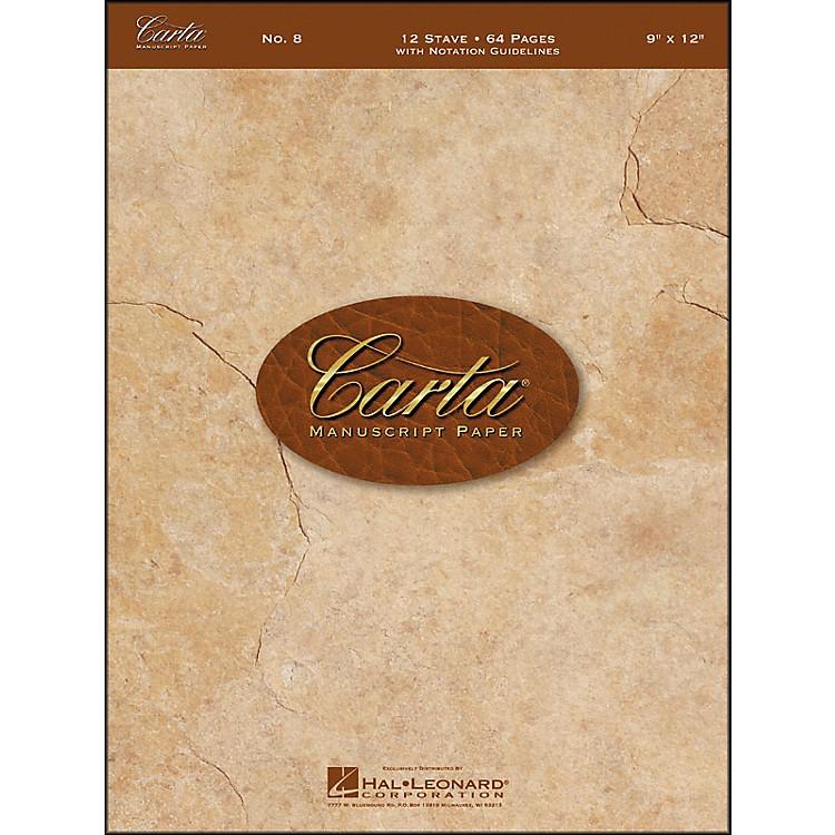 Hal LeonardCarta Manuscript Paper # 8 - Spiralbound, 9 X 12, 64 Pages, 12 Stave