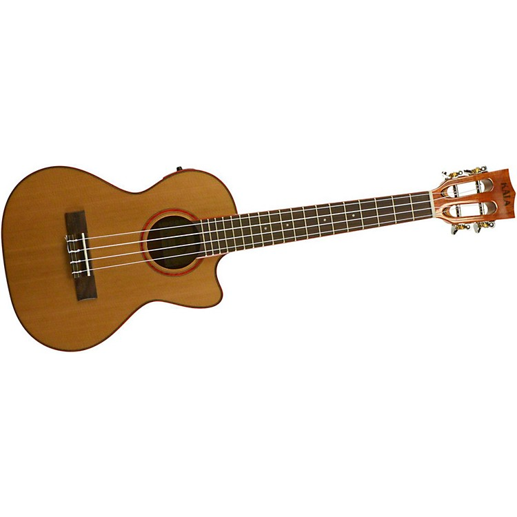 Kala Cedar Top Cutaway Acoustic-Electric Tenor Ukulele Natural