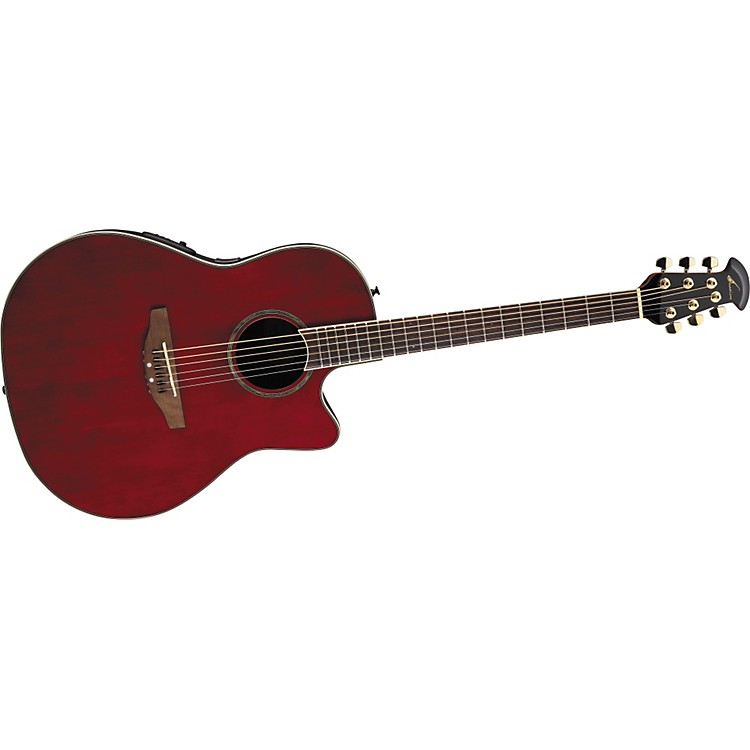 Ovation Celebrity CC24 Acoustic-Electric Guitar Ruby Red