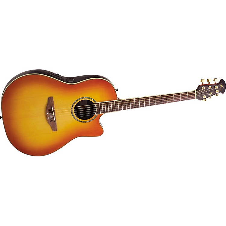 Ovation Celebrity CC24S Acoustic-Electric Guitar Tuscan Tan Burst