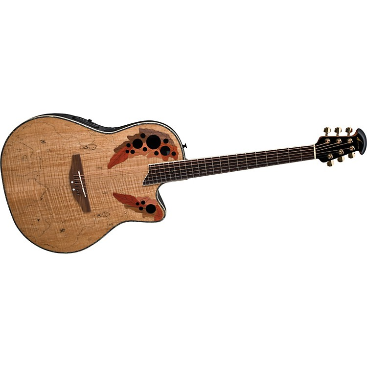 Ovation Celebrity CC44 Mid-Depth Contour Acoustic-Electric Guitar Spalted Maple