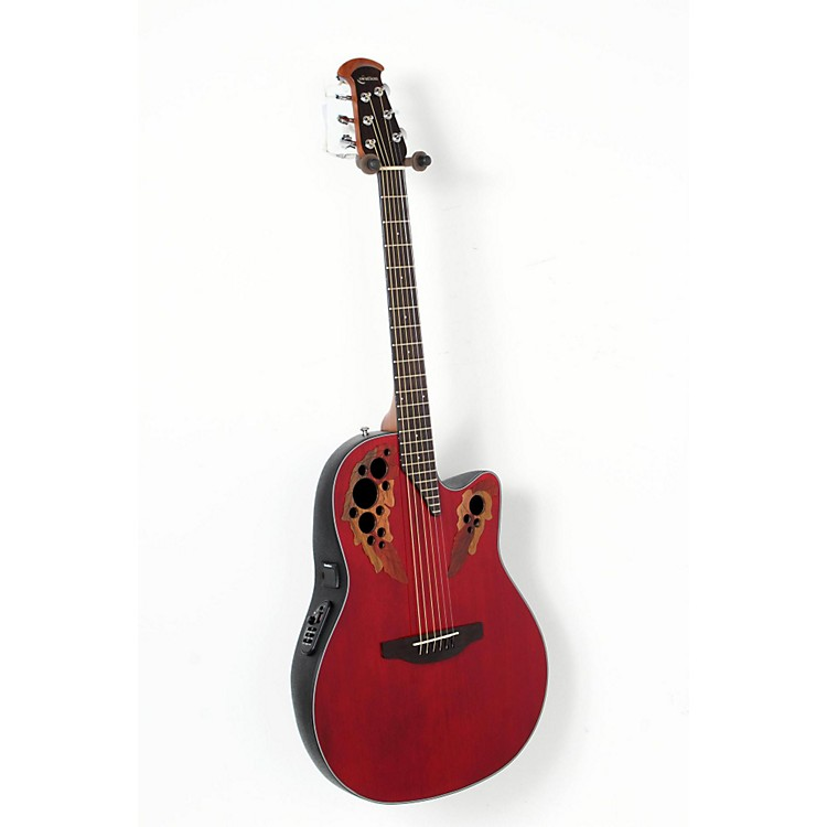 Ovation Celebrity Elite Acoustic-Electric Guitar Ruby Red 888365901411