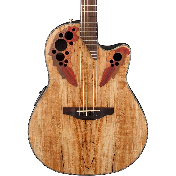 Ovation Celebrity Elite Plus Acoustic-Electric Guitar Spalted Maple Natural