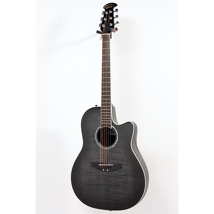 Ovation Celebrity Mid Depth Flame Maple Trans Black Burst Flame 886830964091