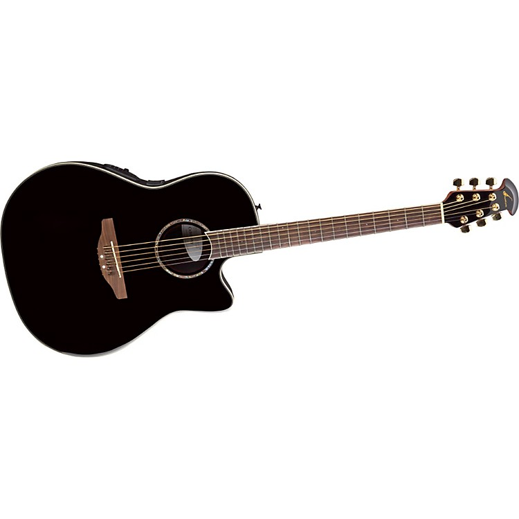Ovation Celebrity SS Super Shallow Contour Acoustic-Electric Guitar Black