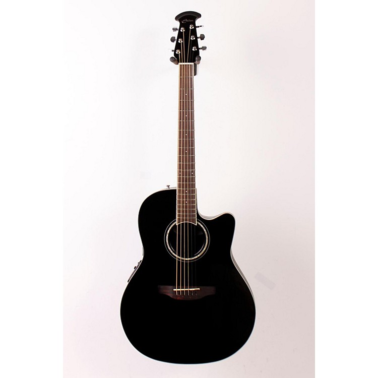 Ovation Celebrity SS Super Shallow Contour Acoustic-Electric Guitar Black 888365169200